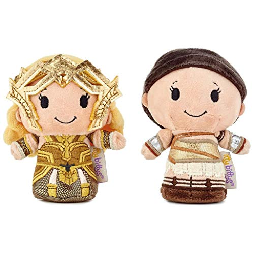 Hallmark itty bittys Wonder Woman Amazon Warrior Stuffed Animals, Set of 2 Itty Bittys Superheroes