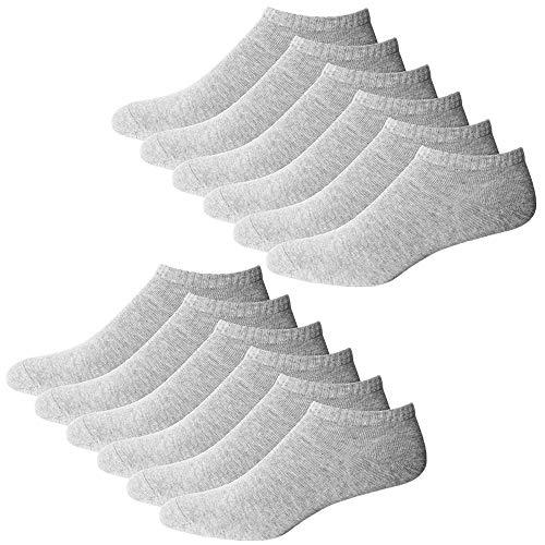 YouShow Sneaker Socken Herren Damen 10 Paar Kurze Halbsocken Quarter Baumwolle Unisex (Grau,39-42)