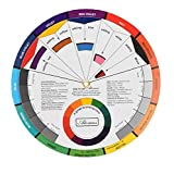 Scheda di colore della miscela di carta della rotella cromatico Guida Circle Forniture cromatografia Tatuaggio Nail Pigment
