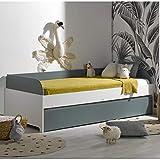 Alfred & Cie – Pack cama nido + 2 colchones Magnus blanco y verde
