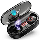 VEATOOL 5.0 Bluetooth Headphones Binaural Call True Wireless Earbuds 20H Playtime HD Stereo Bass Sound Mini in Ear Bluetooth Earphones with Built in Mic and Charging Case for Sports Running