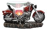 Ebros Red Vintage Motorcycle Classic Chopper Bike Electric Oil Burner Or Tart Warmer Decor...