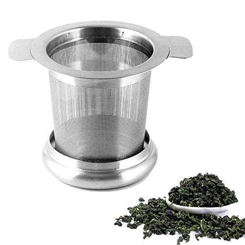 Hihamer Teesieb Teefilter Fein Sieb mit Deckel und Griffe Set aus Edelstahl für Losen Tee Tasse Teekanne Töpfe, rostfrei spülmaschinenfest