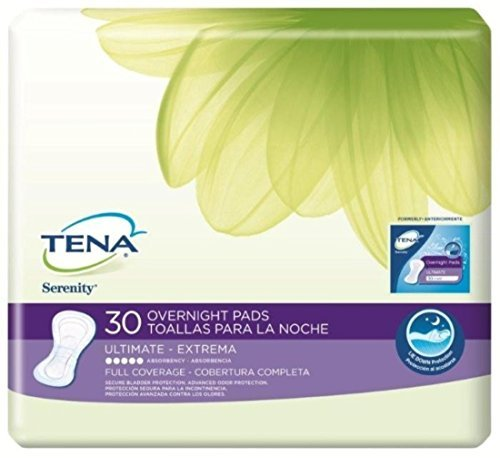 TENA Serenity Bladder Control Pads, Serenity Night Pad, (1 CASE, 90 EACH) by SCA