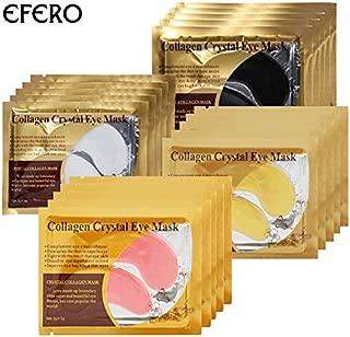 RubyShopUU efero 20pair=40pc Collagen Eye Mask Face Mask Eye Patches for Eyes Care Anti Aging Eye Bags Dark Circles Moisturizing Sleep Mask