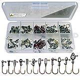 Cabezas de jig de plomo para pesca, Plantilla de Pesca de 1 - 3 gramos, Gancho de Pesca para agua dulce y salada, 120 piezas Gancho de Cabeza de Plomo