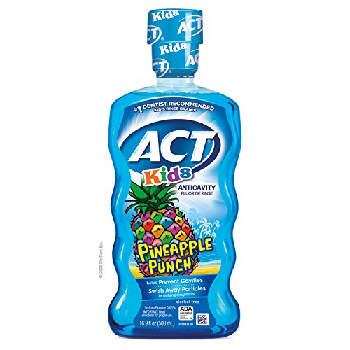 ACT Kids Anticavity Fluoride Rinse Pineapple Punch Children#039s Mouthwash 169 oz