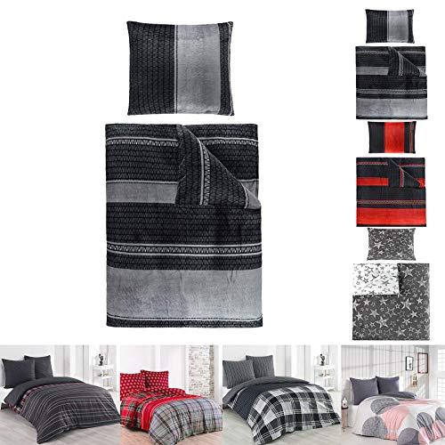 Cashmere Touch Warme Winter Bettwäsche, ähnlich Nicky Teddy Coral Fleece, in 135x200 und 155x220, 4tlg. Set 135x200 cm Bernhard Silber