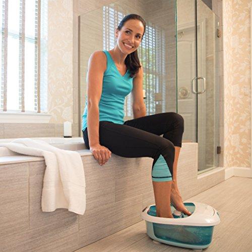 HoMedics Foot Salon Pro Footbath with Heat Boost Power | Massaging Vibration, 4 Pedicure Spa Attachments,...