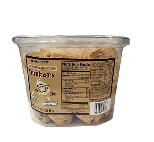 Trader Joe's Chocolate Chip Dunkers (16oz) 1 LB
