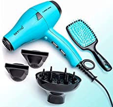 Professional Series Salon Hair Dryer with Diffuser by SKYPRO | Hair Dryers for Women | Compact Short-Barrel Ionic Blow Dryer | 1875 Watts Fast Salon-Grade Drying Power with Anti-Frizz Ionic Generator