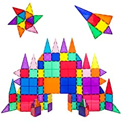 DREAM BIG & BUILD BIG - No limitations, scalable to build as big as desired by adding more pieces to create the master piece. PicassoTiles in colossal styles. LEARNING BY PLAYING - Never too early to start developing kids creativity. Children can acq...