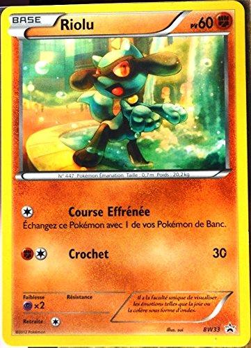 carte Pokémon BW33 Riolu 60 PV PROMOPROMO NEUF FR