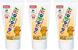 3x50 ml NENEDENT Toothpaste for Children up 0 to 6 Years with Raspberry-Strawberry Flavour | Germany