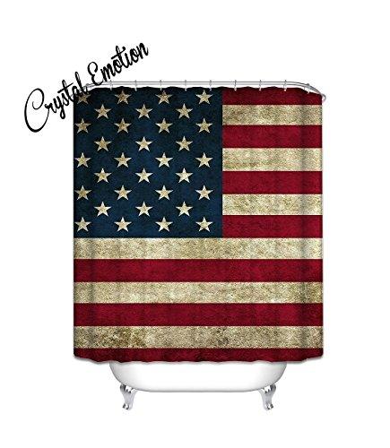 Crystal Emotion Beautiful American Flag Shower Curtain