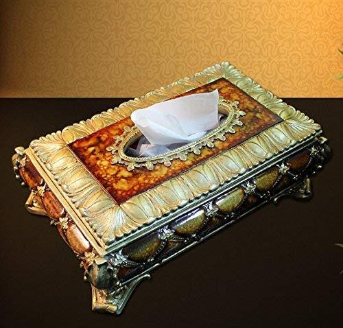 JIE Dekoration europäischen Stil versenkbare Tissue Box Home Schublade Dekoration Ornament Tissue Box Papiertuch Serviette Fach Tissue Aufbewahrungsbox,35 * 20 * 11 cm,A