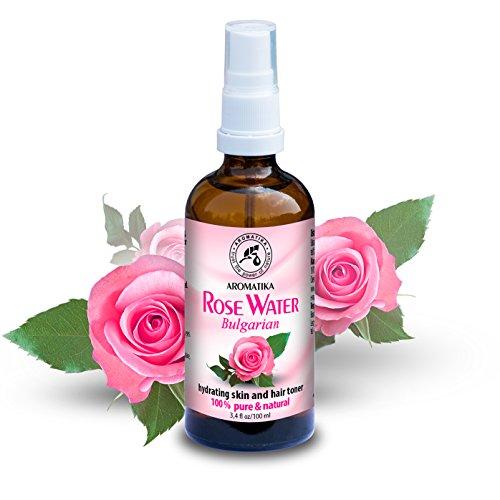 Rosenwasser 100% Reines und Natürlich100ml - Bulgarien - Gesichtswasser - Spray für Haut - Haare - Gesicht
