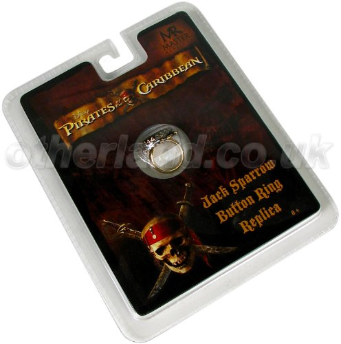 Pirates of The Caribbean Jack Sparrow Button Ring