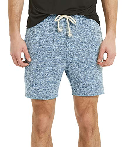 Zengjo Mens Shorts 6 Inch Inseam(M,Marled Blue)