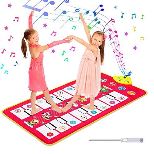 Homealexa Tapis Jeu de Piano, Jouet de Tapis de Musique, Tapis de Danse avec 7 Voix d