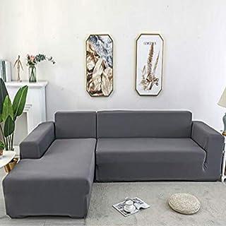 Youjoy Housse de canapé d'angle en forme de L avec housse élastique pour canapé 1/2/3/4 places