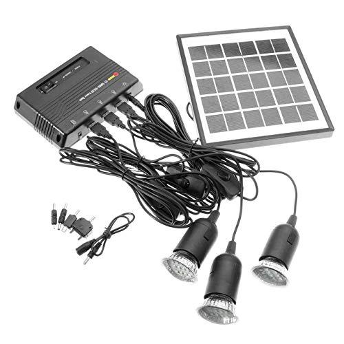 Jiobapiongxin Kit di Sistema per Giardino Domestico Caricatore per Lampada a LED a Pannello Solare a energia Solare da 4W 6V (JBP-X)