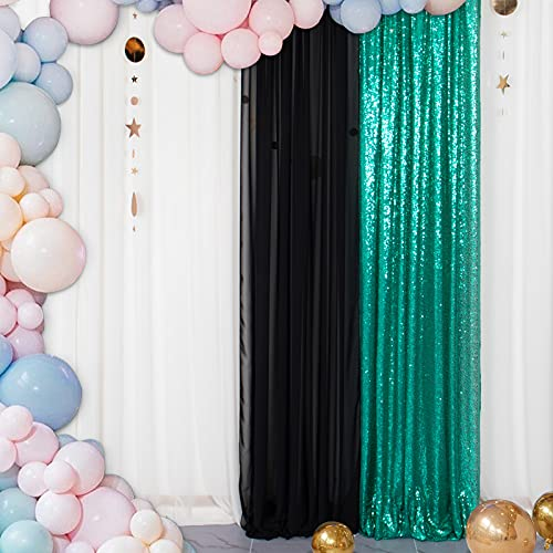 Sequin Fabric Photo Booth Backdrop Christmas Green 2FTx8FT 1PC Photography Backdrops Green Sequin Backdrop Curtain 2ftx8ft Rod Pocket Curtain Green Curtain ONE Panel