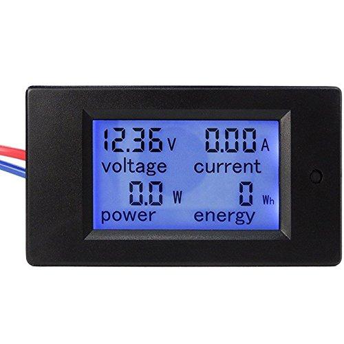 Tutoy Pzem-031 Dc 6.5-100V 20A 4 In 1 Digital Display LCD-Bildschirm Spannung Strom Energiezähler