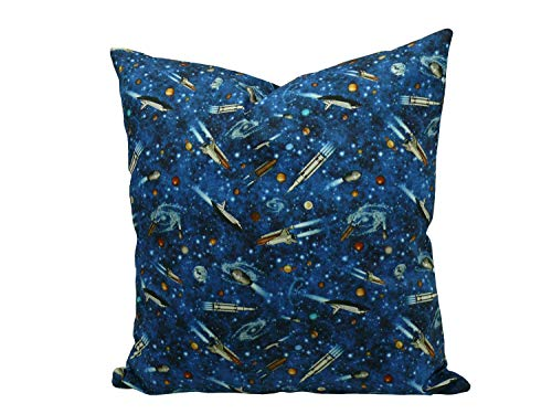 Fitzibiz Kissen Weltall mit Füllung, blau, Öko-Tex 100, Grösse: 40x40cm auch in 50x50cm verfügbar