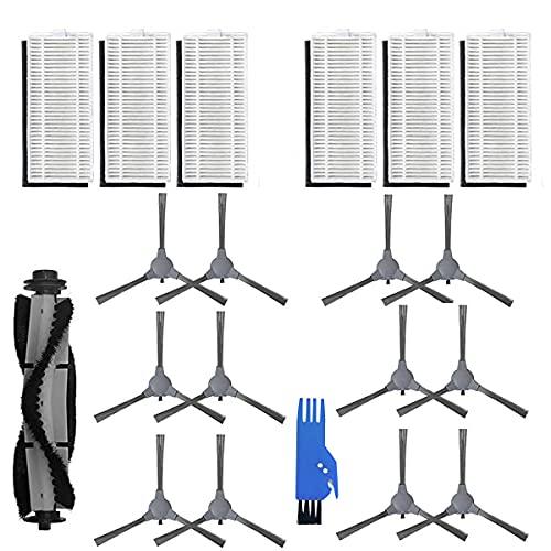 BLUELIRR - Kit di accessori per aspirapolvere ONSON J10C 2100Pa, parti di ricambio per ONSON J10C, include 6 filtri, 12 spazzole laterali, 1 spazzola principale, 1 spazzola di pulizia