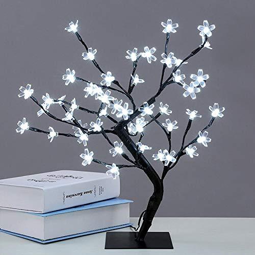 Mini luces LED de cerezo, luces nocturnas, luces de lectura, para niños, regalo de cumpleaños, dormitorio, decoración de interior, color blanco