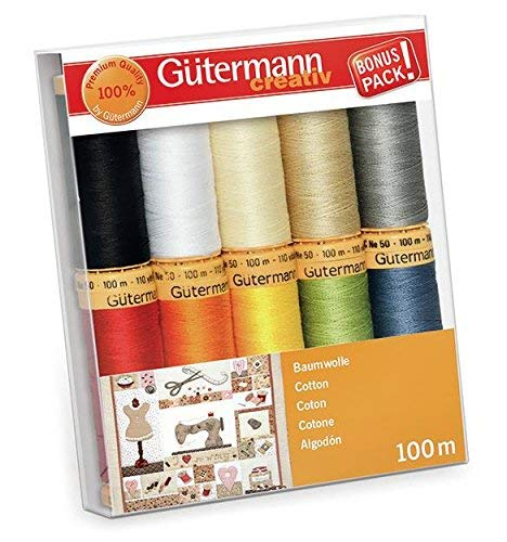 Gütermann Nähgarn, Multicolor, 10x 100m