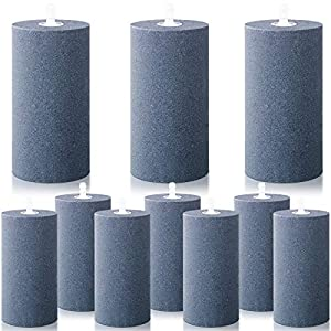 10 Pieces Air Stone Cylinder 4 Inch Large Mineral Bubble Diffuser Aerator Bubble Diffuser Cylinder Air Stones Diffuser Air Pump Accessories for Hydroponic Growing System Circulation Aquarium Fish Tank