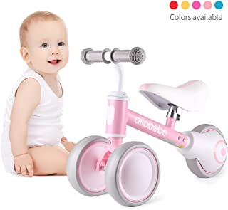allobebe Baby Balance Bike-Baby Bike with Adjustable Seat for 10-36 Months, Stable Toddler Balance Bike for 1 Year Old Birthday Gifts, Safe Riding Toys for 1 Year Old Boy Girl to Scoot Around