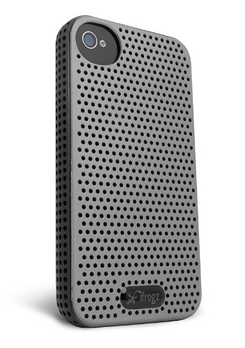 iFrogz IP4BRZ - GRY/BLK Breeze iPhone 4S Case - Skin - Retail Packaging - Gray/Black