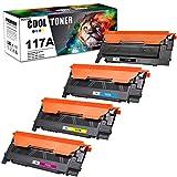 Cool Toner Kompatibel Tonerkartusche als Ersatz für HP 117A W2070A HP Color Laser MFP 178nwg 179fwg 179fnw 178nw Toner für HP Color Laser 150a 150nw (Schwarz,Cyan,Gelb,Magenta, Mit Chip, 4er-Pack)