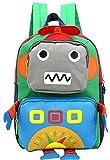 Freitop Kinderrucksack mit Cartoon Roboter Muster ab 3 Jahre Schulrucksack Kindergartenrucksack Schulranzen Kindergartentasche Schultasche für 3-9 Jahre Kinder Mädchen Jungen Grundschule Vorschule