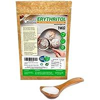 Eritritol 100% Natural Organico Ecologico 1Kg Edulcorante 0 Calorias | Ideal para Reposteria, y Dietas |Edulcorantes DULCILIGHT el sabor natural del azucar.