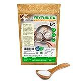 Eritritol 100% Natural Envase Ecologico 1Kg Edulcorante 0 Calorias | Ideal para Reposteria, y Dietas |Edulcorantes DULCILIGHT el sabor natural del azucar.