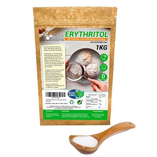 Dulcilight Eritritol 1kg suikervervanger 100% natuurlijk en zonder calorieën