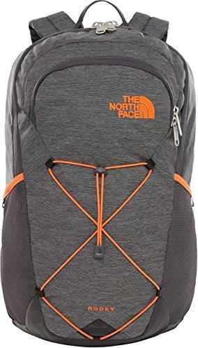 THE NORTH FACE Rodey Rucksack, TNF Dark Grey Heather/Persian Orange, One Size