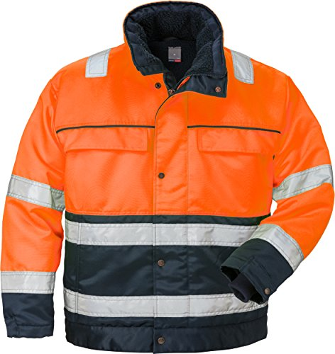 Fristads 100496 Kansas Workwear Winterjacke Gr. XL, Warnhinweis: Orange/Marineblau