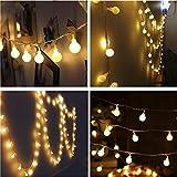 Sternenklare Led-Lichterketten Warmweiß, Glühbirne Fairy String Lampe Geeignet Für Schlafzimmer Wohnzimmer Weihnachtsbaum Dekor Hochzeit Garten Party Innen Und Außen