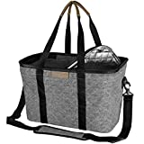 CleverMade SnapBasket Insulated Reusable Grocery Shopping Bag with Shoulder Strap, Reinforced Bottom...