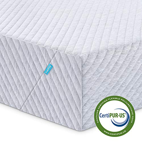 Twin Mattress, Inofia Memory Foam Single Mattress in a Box with Knitted Breathable Cover, Sleep Cooler & More Support, CertiPUR-US Certified, 8 Inch, 100 Nights Trial, 10 Years Warranty