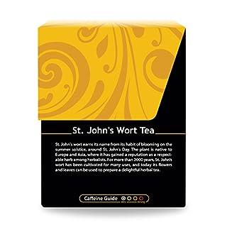 عروض Organic St. John's Wort Tea - Kosher, Caffeine-Free, GMO-Free - 18 Bleach-Free Tea Bags