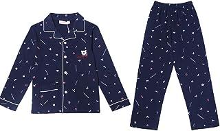 qazxsw Pijamas Pijamas de Manga Larga Otoño e Invierno Ropa de hogar para niños Ropa para niños en casa