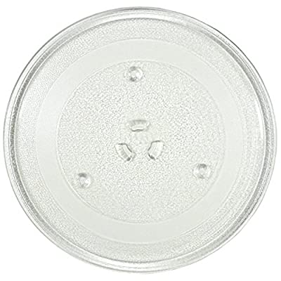 """11.25"""" GE and Samsung -Compatible Microwave Glass Plate/Microwave Glass Turntable Plate Replacement - 11 1/4"""" Plate, Equivalent to G.E. WB49X10097"""