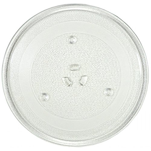 11.25' GE and Samsung -Compatible Microwave Glass Plate/Microwave Glass Turntable Plate Replacement - 11 1/4' Plate, Equivalent to G.E. WB49X10097