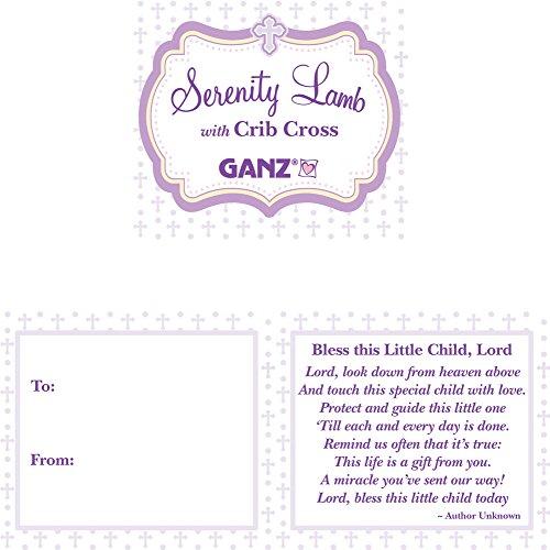 Product Image 2: Ganz Serenity Lamb With Crib Cross Christening Gift (Blue (Boy))